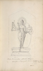 Maha Deva or Siva with his insignia. Copied from a drawing of an Ancient Sculpture by Capt. Caldwell. 1802-3